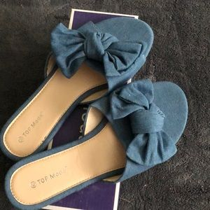 Worn once, Top Moda size 8.5 sandals.
